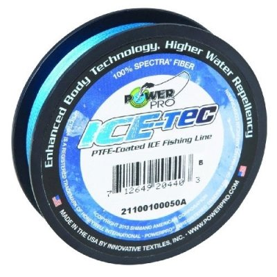Леска плетеная Power Pro Ice-Tec 45м синяя 0,19/13кг